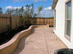 retaining wall and matching patio